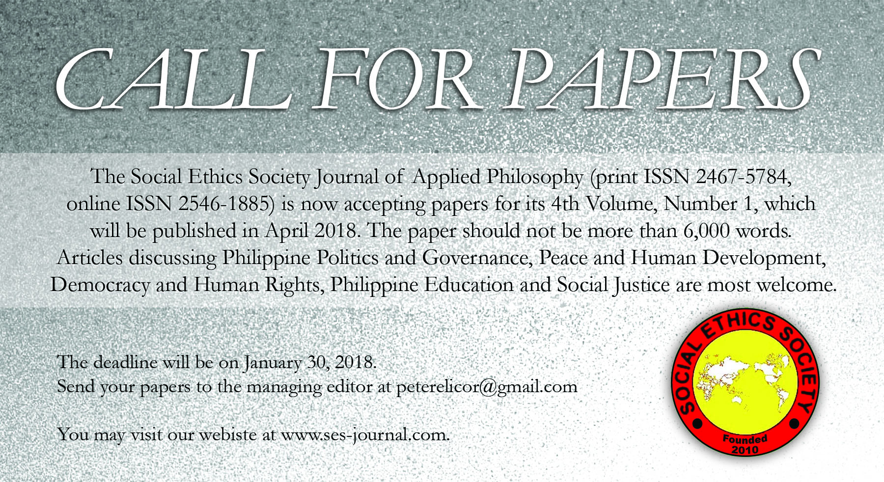 social ethics society journal of applied philosophy